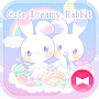 Pastel colors Wallpaper Cute Dreamy Rabbit Theme APK icon