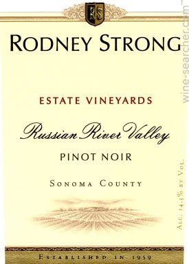 Logo for Rodney Strong Pinot Noir Estate Russian River Valley