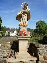 Photo: Figura św. Jana Nepomucena na moście