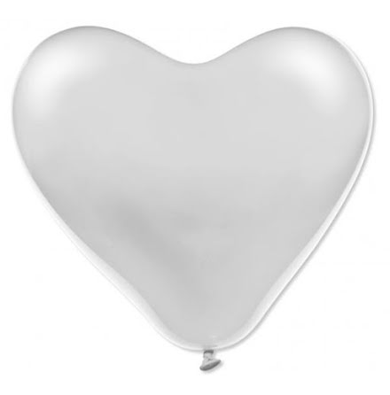 Hjärtballonger 43 cm vita