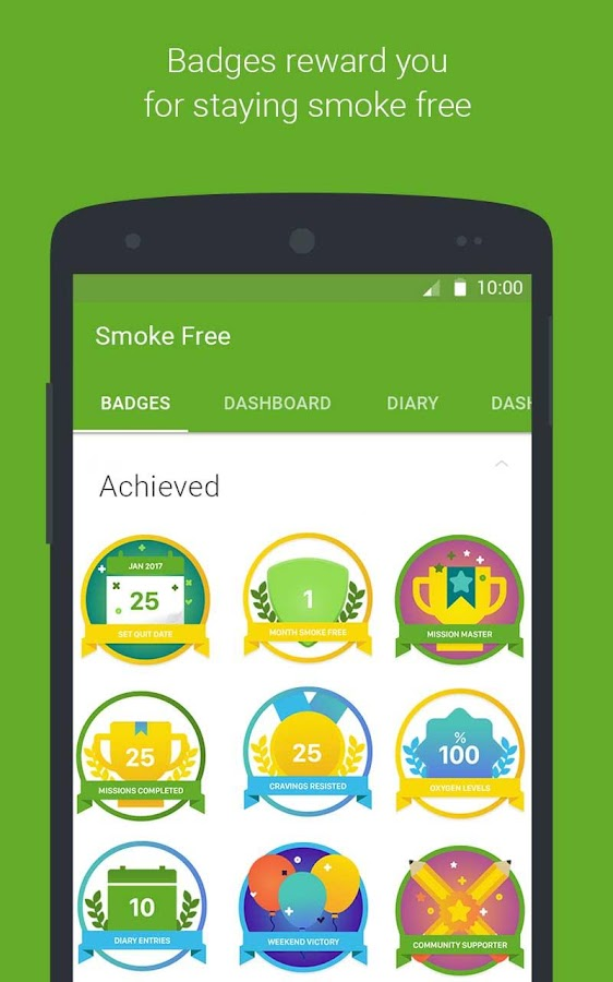 Smoke Free, stop smoking now and quit for good: screenshot