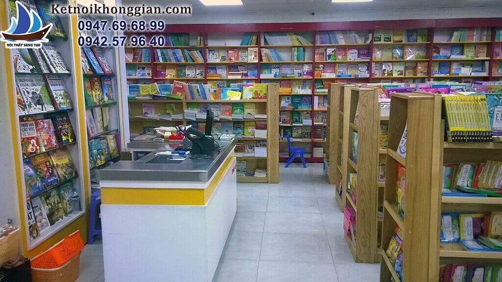 thiết kế nội thất nhà sách tràng an tầng 3