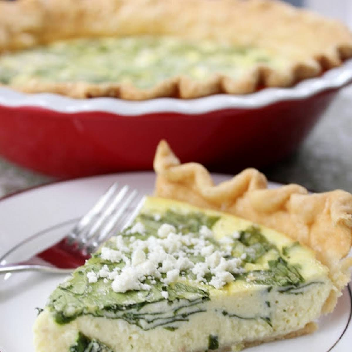 Spinach Cream Cheese Quiche