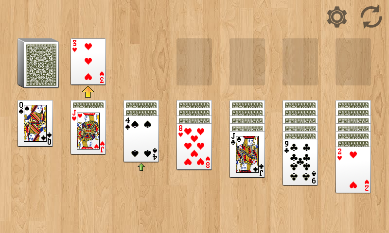 Solitaire!- screenshot