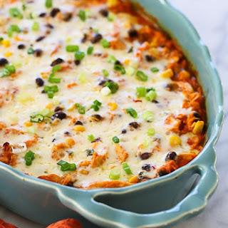 Spiralized Mexican Sweet Potato and Chicken Casserole Recipe