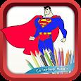 SuperHeroes Coloring Book icon