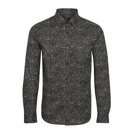 Matinique Robo winter paisley shirt dark grey melange