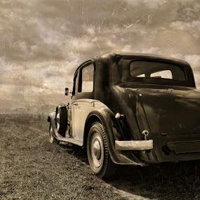 OLD by Soran Sorin - Transportation Automobiles ( car, old, back sepia, vintage )