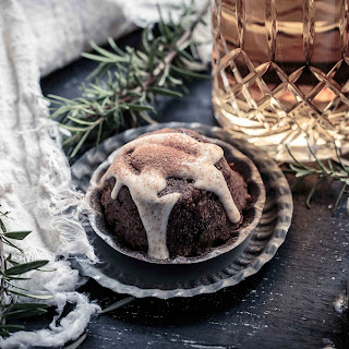 Healthy Christmas Pudding + Brandy Custard {RSF, DF}