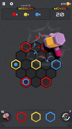 Princess and Zombies -Puzzle Hexa Blast apktram screenshots 4
