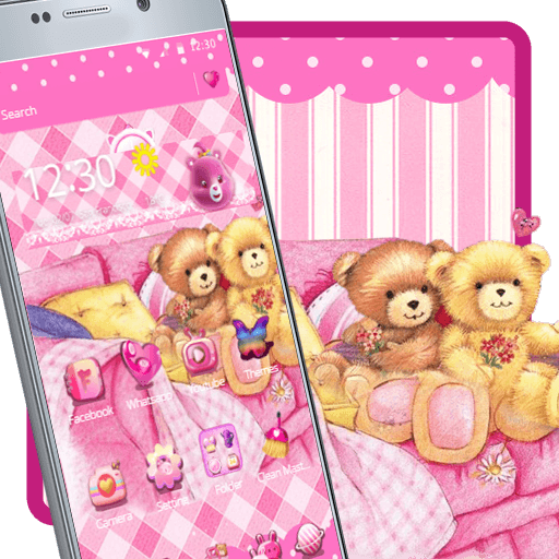 Cute Pink Teddy Launcher