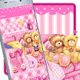 Cute Pink Teddy Launcher icon