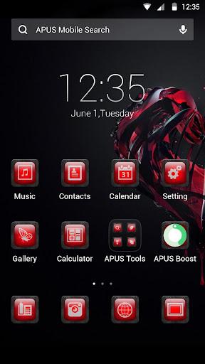 Enthusiastic red APUS theme