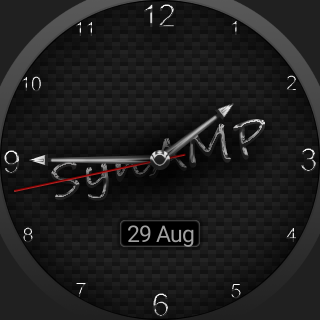 SynAMP Carbon Watch Face