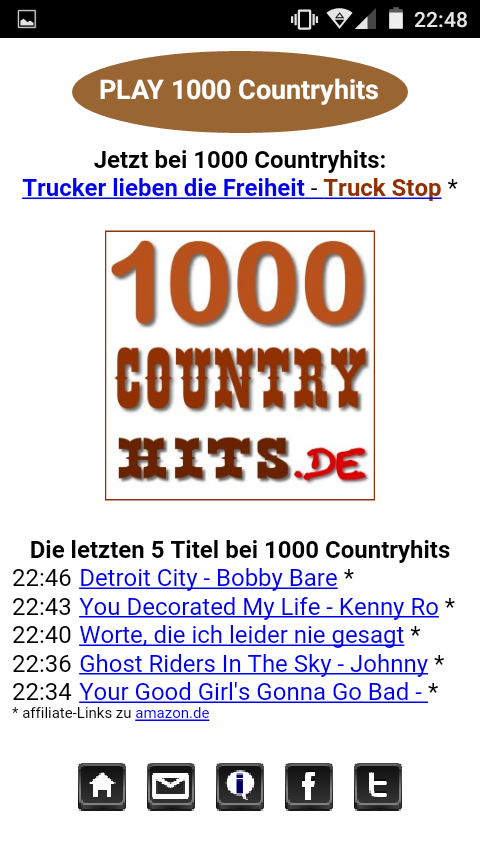 1000 Countryhits Player – Screenshot