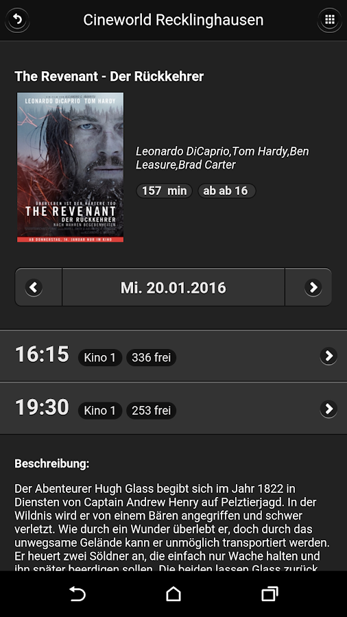 Cineworld Recklinghausen- screenshot