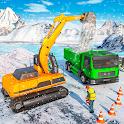 Snow excavator & road construction games 2020 icon