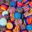 Knit Balls in Many Colors by Robert Hamm - Artistic Objects Toys ( ball, craft, otavalo, ecuador, colorful, shape, circle, hacky sack, market, pattern, color, outdoor, wool,  )