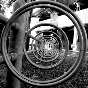 Bicycle Rack  by Benjamin Arthur - Artistic Objects Industrial Objects ( cycle, copenhagen, bike, benjamin, photographer, benjaminarthur.com, denmark, rack, photography, arthur, bicycle,  )