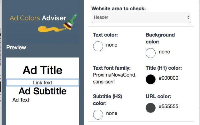 Ad Colors Adviser