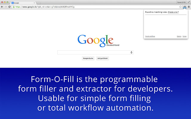 Form-O-Fill - The programmable form filler