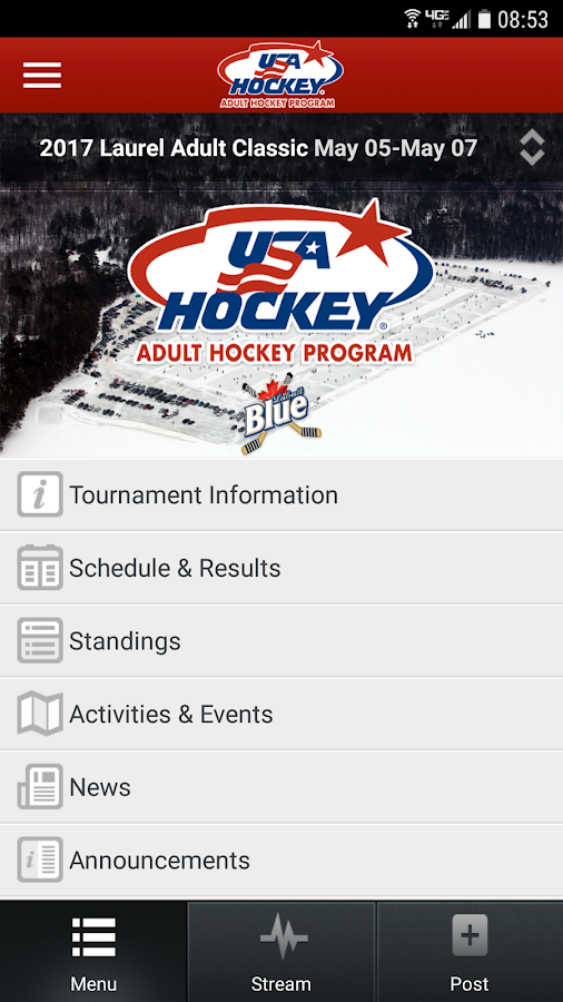 USA Hockey Adult Events- screenshot