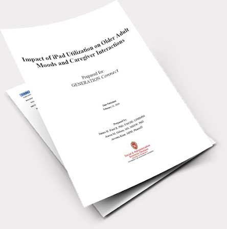 Printed copy of Tablet Engagement Dementia Care Whitepaper