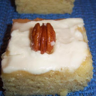 Frosted Banana Pecan Bars With Cream Cheese Frosting