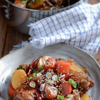 Korean Braised Chicken, Jjimdak