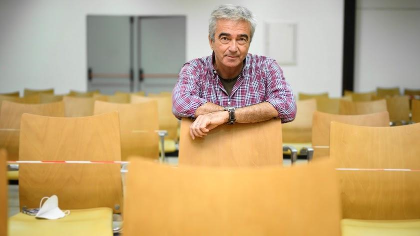 Carles Francino, ayer viernes en el Centro de Exposiciones de Campohermoso.