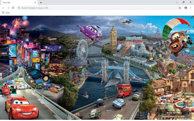 Cars 2 New Tab & Wallpapers Collection