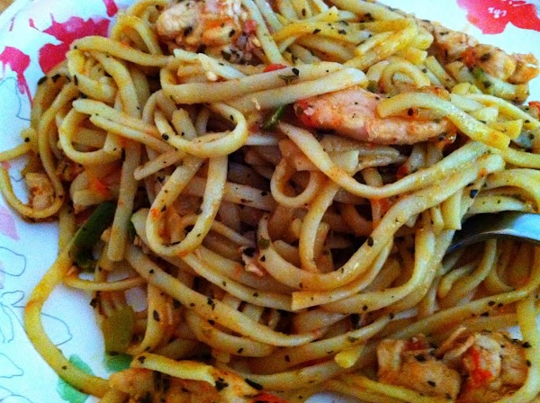 Stir in the cooked pasta and mix well.  Reduce heat and simmer for...