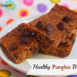 Healthy Pumpkin Brownies.