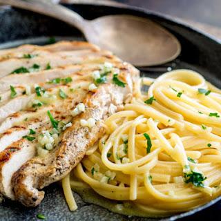 Garlic Butter Pasta with Garlic Chicken.