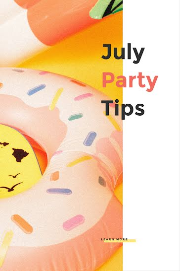 July Party Tips - Pinterest Pin Template