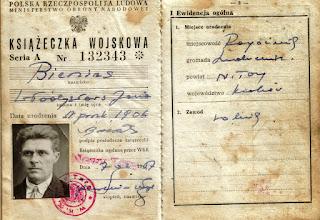 Photo: Książeczka wojskowa Wladysława Bienias.