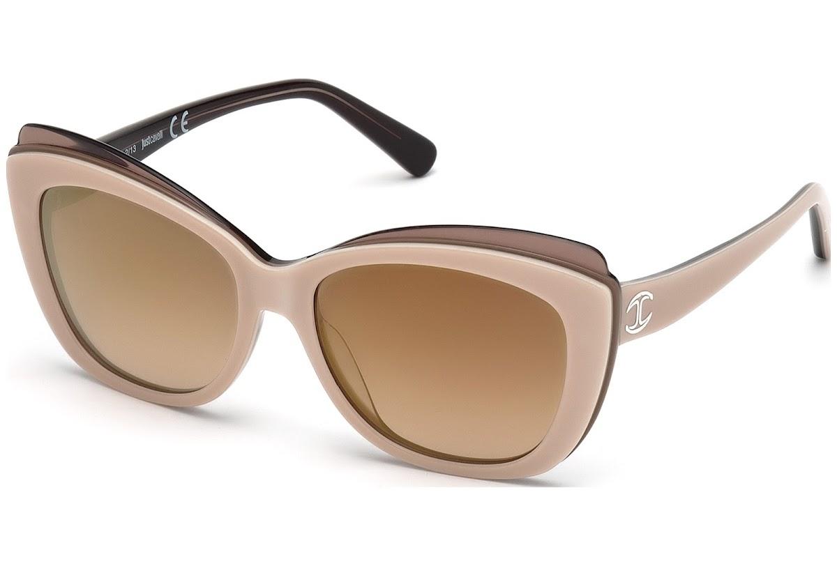 Comprar Gafas de sol Just Cavalli JC565S 59G (beige other   brown mirror)  9cc82f289fb4