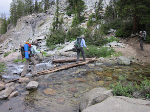 Photo: One of many stream crossings