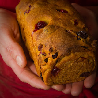 Yeasted Cranberry–Pecan Pumpkin Loaves