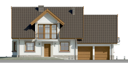 Dom przy Cyprysowej 15 D - Elewacja przednia