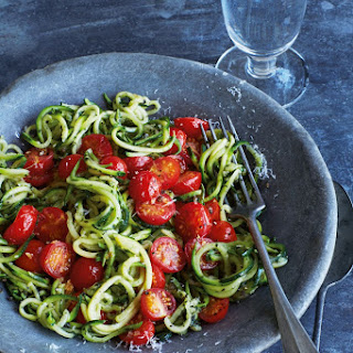Annabel Karmel's courgette spaghetti (the best I've tried!).
