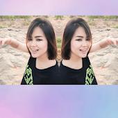 รูปฝาแฝด ภาพคู่ซ้อนสะท้อนกระจก