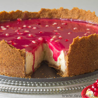 Pomegranate Cheesecake.