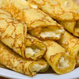 Passover Cheese Blintzes.