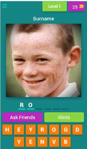 Guess the child footballer