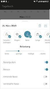 Husteblume - die Allergie-App der Techniker Screenshot
