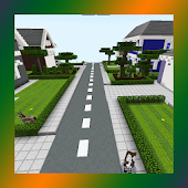 School and Neighborhood. Map for MCPE