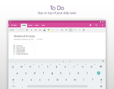 OneNote Screenshot 10