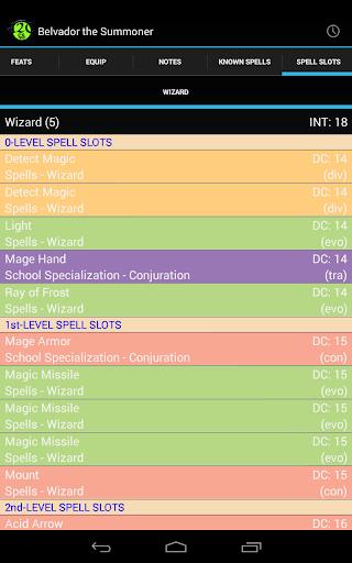 d20 Character Sheet screenshot 24