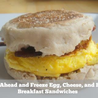 Bacon and Cheddar Breakfast Sandwich.